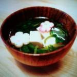 ほうれん草と豆腐のすまし汁